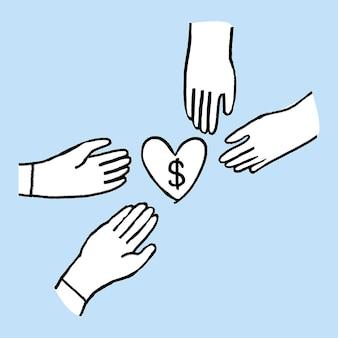 Spenden sie jetzt, um von covid-19 betroffene gemeinden zu unterstützen