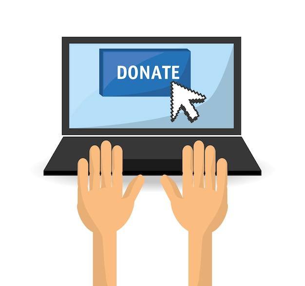 Spendensupport-symbol für die nächstenliebe der menschen