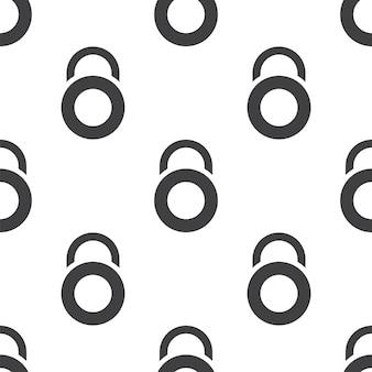Sperre, nahtloses vektormuster, bearbeitbar kann für webseitenhintergründe verwendet werden, musterfüllungen