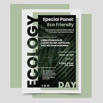 Spezialpanel: umweltfreundliches poster