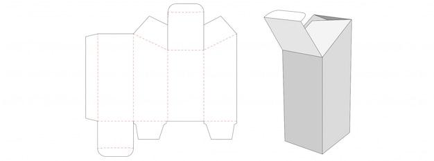 Speziell geformte verpackungsbox gestanzte schablonendesign
