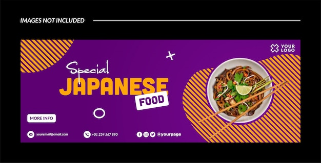 Spezielle japanische banner-vorlage oder facebook-cover