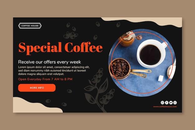 Spezielle kaffee-banner-vorlage