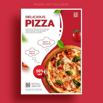 Spezielle pizza promotion banner vorlage