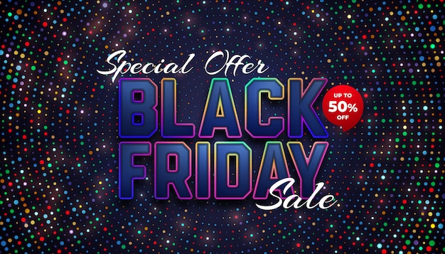 Spezieller black friday sale bis zu 50% rabatt