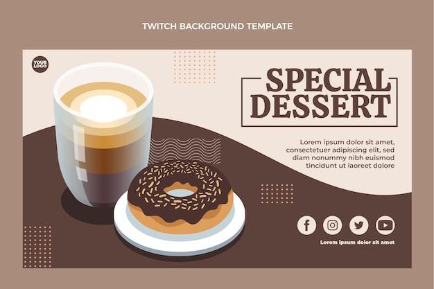 Spezieller dessertzuckenhintergrund des flachen designs