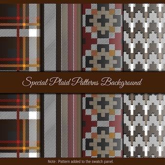 Spezieller karierter musterhintergrund. rotes, schwarzes und braunes karomuster für textilien.