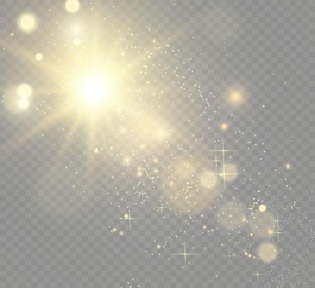Spezieller objektivblitz, lichteffekt.