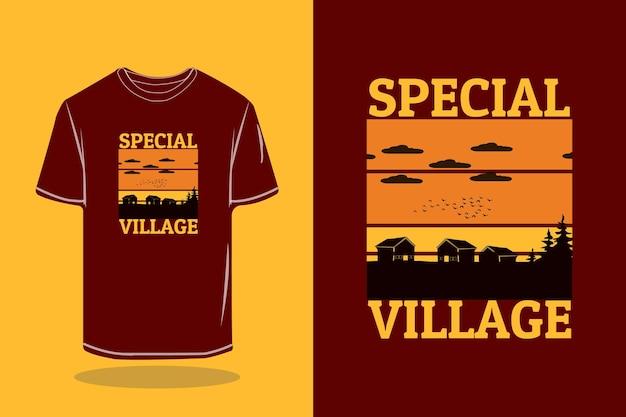 Spezielles dorf-retro-t-shirt-mockup-design