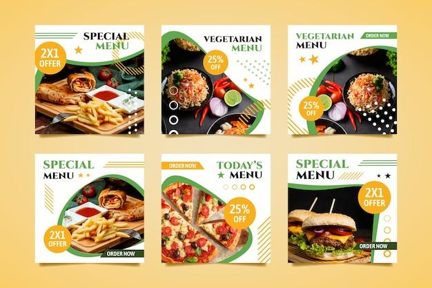 Spezielles menü online-post-sammlung
