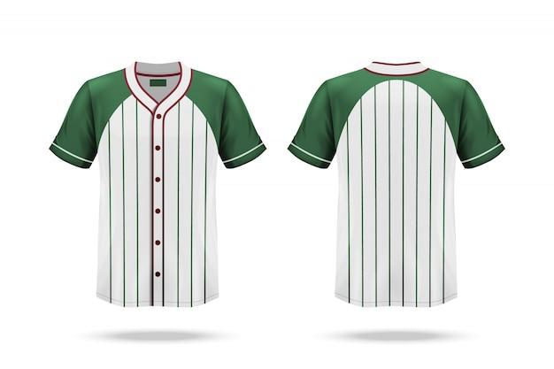 Spezifikation baseball jersey t-shirt, isoliert auf weiss