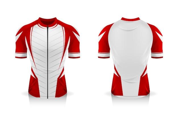 Spezifikation fahrrad trikot vorlage. modell sport t shirt rundhalsuniform