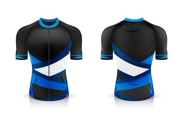 Spezifikation fahrrad trikot vorlage. sport t shirt rundhalsuniform für fahrradbekleidung.