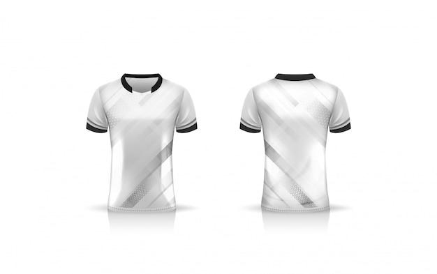 Spezifikation fußball sport, esport gaming t-shirt jersey vorlage. uniform . illustration