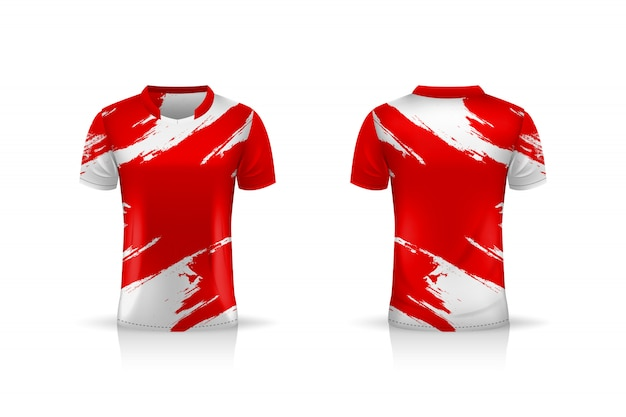 Spezifikation fußball sport, esport gaming t-shirt jersey vorlage. uniform . illustration