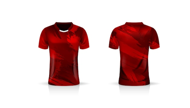 Spezifikation fußball sport, esports gaming t-shirt jersey vorlage. uniform .
