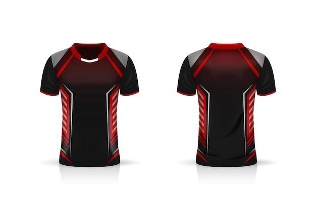 Spezifikation fußball sport, esports gaming t-shirt jersey-vorlage.