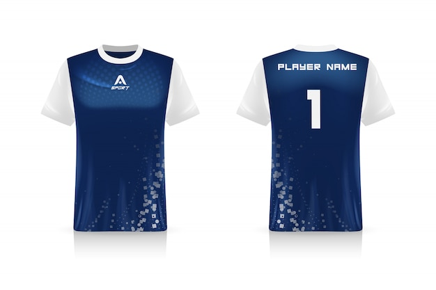 Spezifikation fußball sport, esports gaming t-shirt trikot vorlage. uniform . illustration