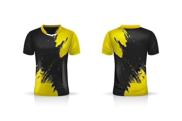 Spezifikation fußball sport t shirt trikot vorlage illustration design
