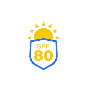 Spf 80, uv- und sonnenschutzsymbol