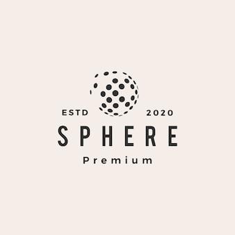 Sphere 3d hipster vintage logo symbol illustration