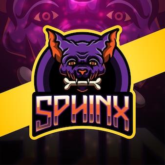 Sphinx esport maskottchen logo design