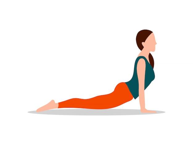 Sphinx-haltungs-yoga und tätigkeits-illustration