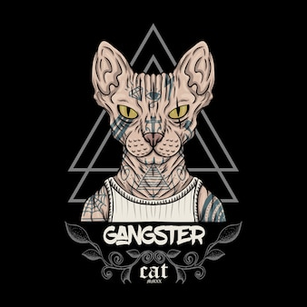 Sphynx katze gangster abbildung