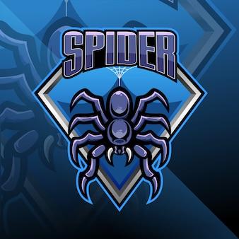 Spider esport maskottchen logo design