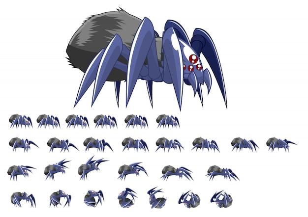 Spider game sprites