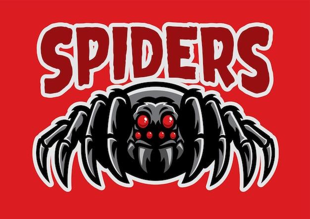 Spider maskottchen sport logo