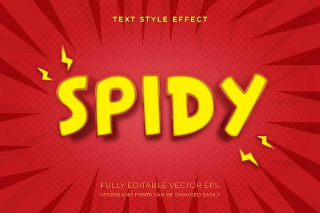 Spidy bearbeitbarer superhelden-texteffekt
