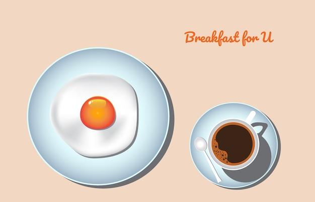 Spiegelei und kaffee frühstück.
