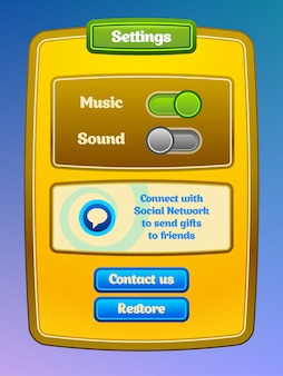 Spiel-benutzeroberfläche