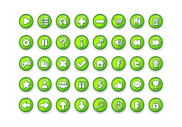 Spiel button vorlagen grün