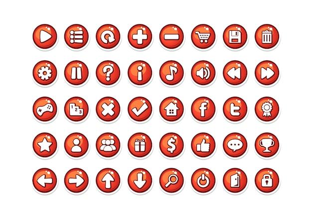 Spiel button vorlagen rot