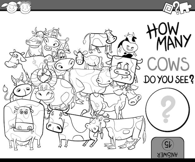 Spiel cartoon malseite zählen