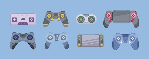 Spiel des joysticks lokalisiert auf weißem hintergrund