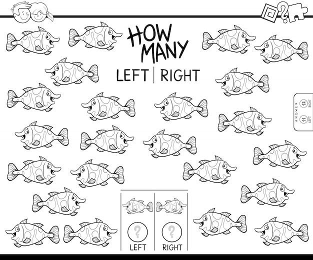 Spiel des zählens des linken und rechten bildes