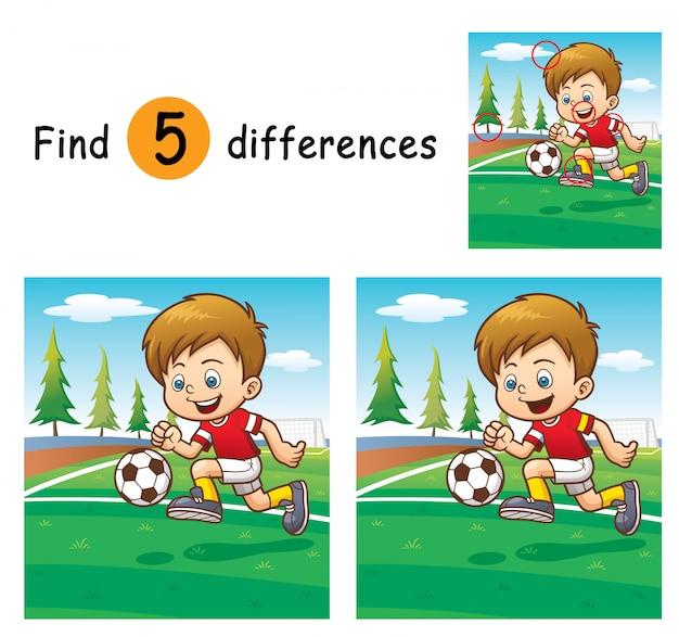 Spiel für kinder finden unterschiede