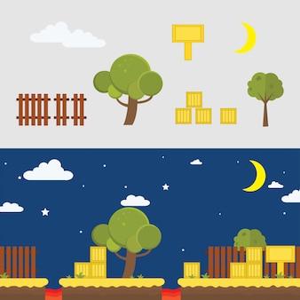 Spiel hintergrund illustration