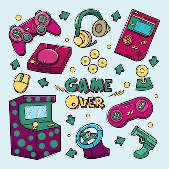 Spiel kritzelt illustration