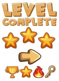 Spiel level komplettes element