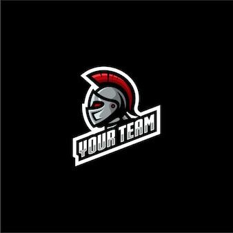 Spiel mit spartanischem logo