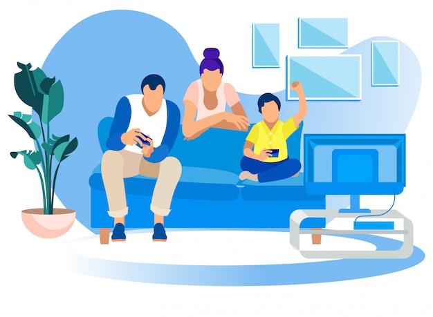Spiel party zu hause, familienspaß freizeit gaming hobby