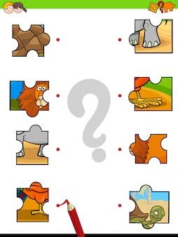 Spiel puzzle-lernspiel