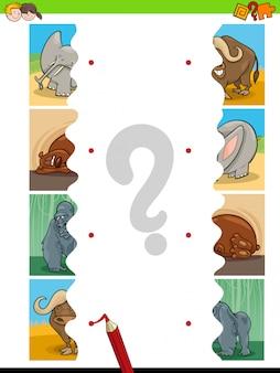 Spiel puzzle pädagogische aufgabe