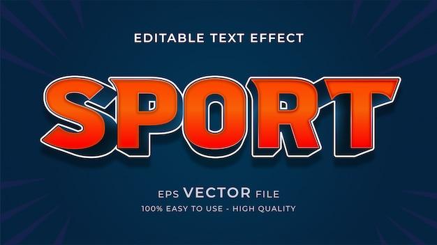 Spiel sport bearbeitbare texteffektkonzept
