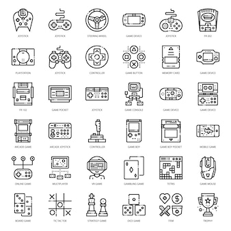 Spiel technologie umriss-symbol