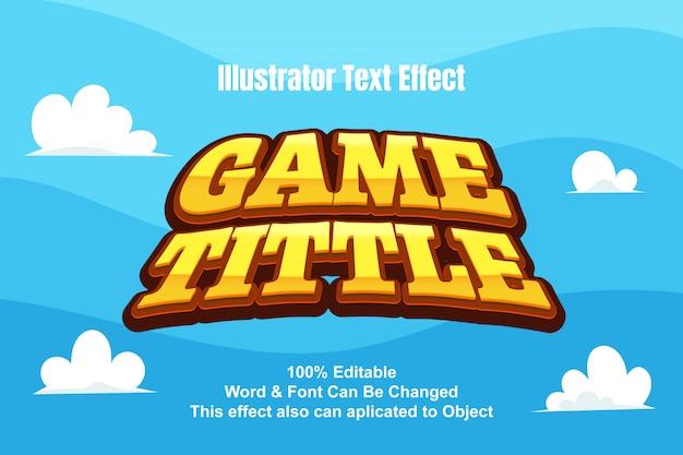 Spiel tittle texteffekt